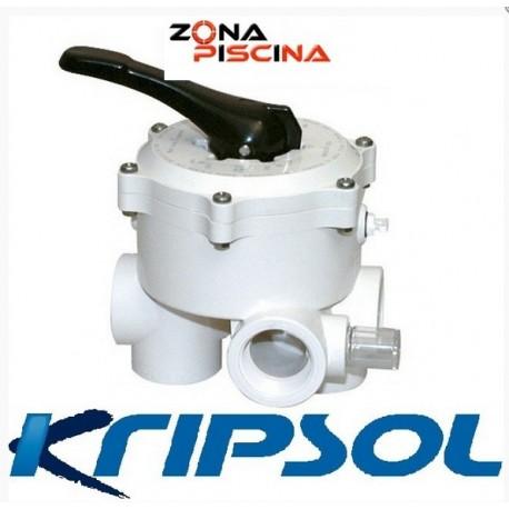Válvula selectora lateral 6  vías Kripsol / Hayward para filtros de piscinas