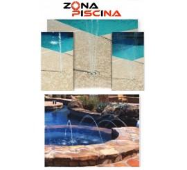Boquillas para corona o suelo de piscina fuentes, jardin,