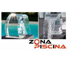 Cascada Tropic de agua acrilica para piscinas, spas