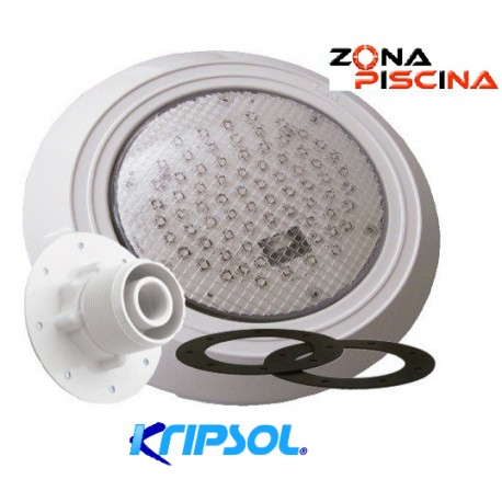 Proyector foco led colores para piscinas liner kripsol for Focos led empotrables extraplanos