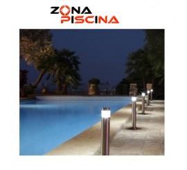 Baliza led para piscinas jardines en acero inoxidable