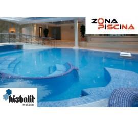 Gresite piscinas Hisbalit azul celeste CARIBE NIEBLA