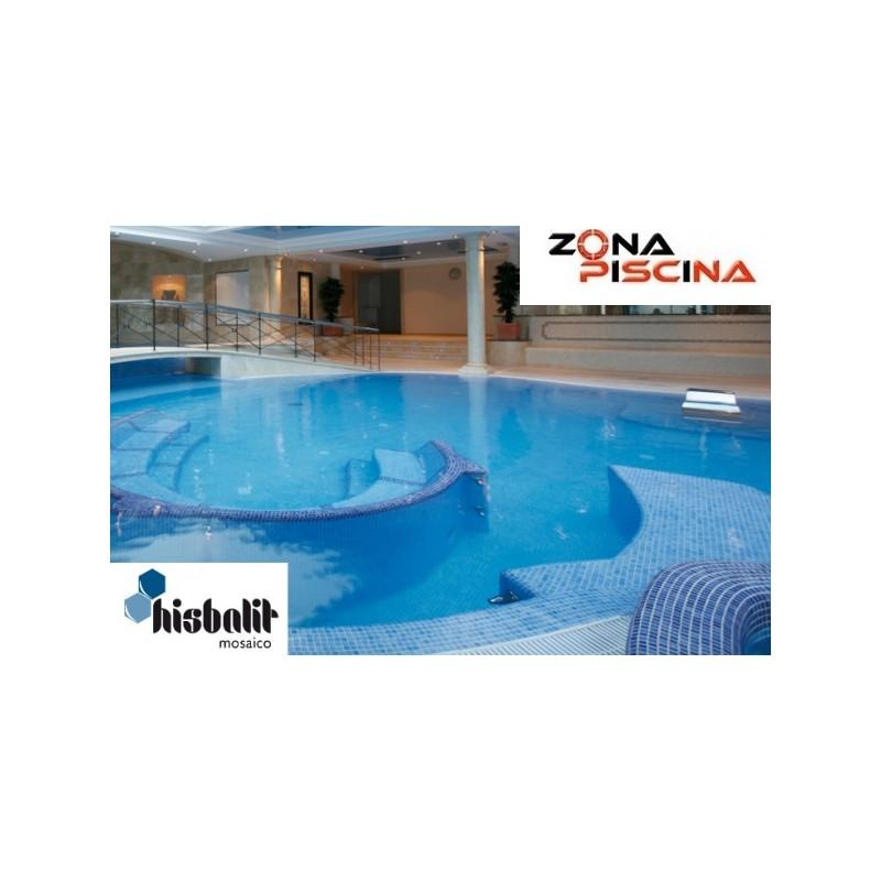 Gresite piscinas azul jonico niebla for Revestimiento piscinas gresite
