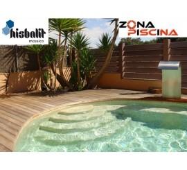 Gresite piscinas Hisbalit verde TIRRENO NIEBLA
