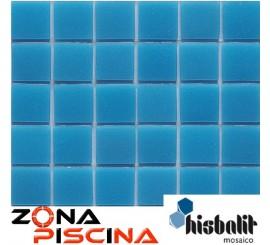 Gresite piscinas Hisbalit azul celeste unicolor liso SAJA