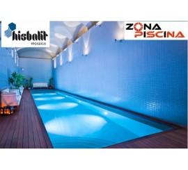 Gresite para piscinas Hisbalit azul celeste unicolor liso SAJA htk