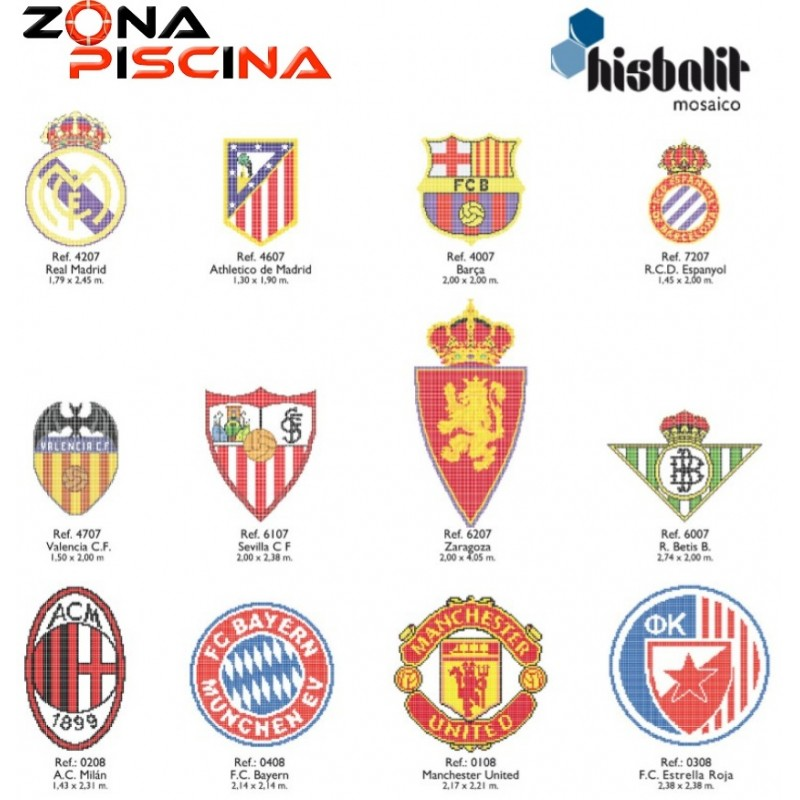 Gresite Piscinas Dibujo Escudo Futbol Barcelona Htk