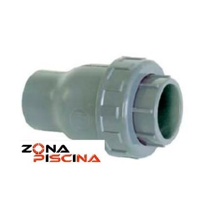 Válvula de retención en PVC anti retorno con cierre EPDM