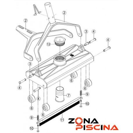 Repuestos / Recambios carro limpiafondos manual CLP52 KRIPSOL