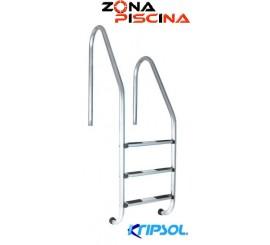 Escalera asimétrica acero inoxidable piscinas estandar