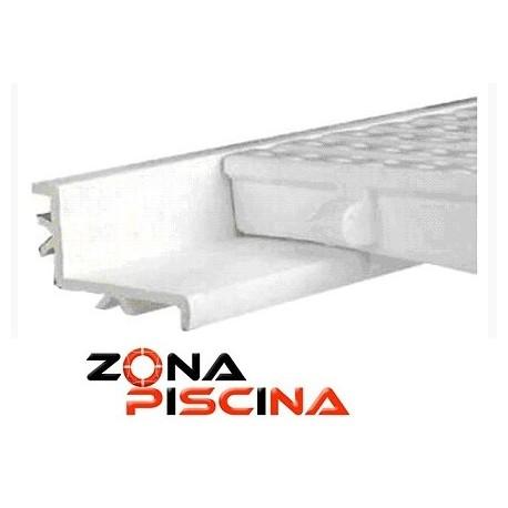 Perfil para soporte rejilla rebosadero piscina 00224 Astralpool