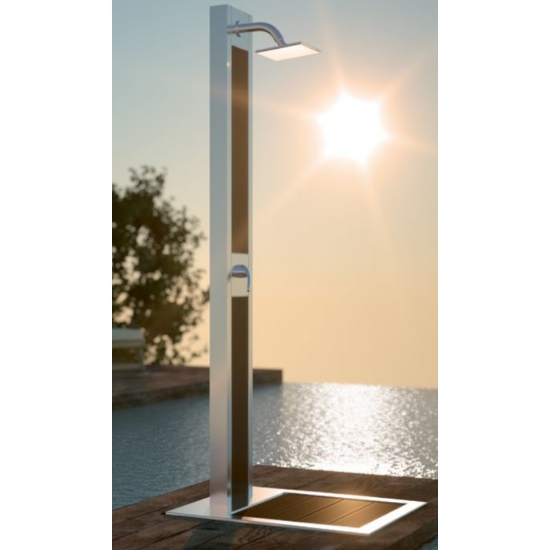 Ducha de dise o elegante en acero inoxidable para piscinas for Duchas para piscinas exterior