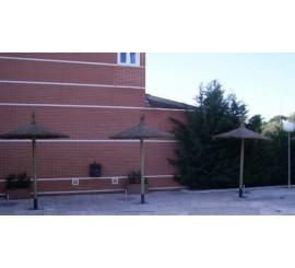 Sombrilla de brezo para piscinas, playa, jardin, hotel
