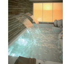 Taburete en acero inoxidable para piscinas, hoteles
