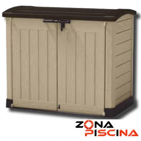 Caseta contenedor depuración vacia de superficie para piscina depuradora