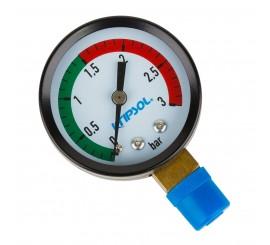 Manómetro KRIPSOL para filtros de depuradoras en piscinas, modelo MP13