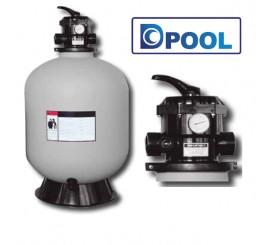 Filtro para piscinas T3 con valvula selectora top