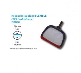 Recogehojas flexible plano / superficie fijacion clip piscinas