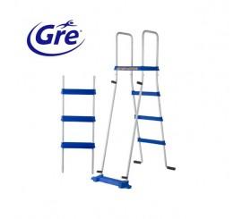 Escalera de seguridad Gre para piscinas desmontables ES1100