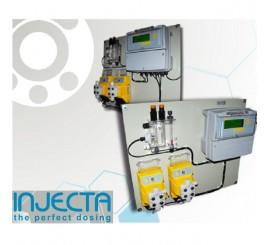 Panel dosificacion Injecta para piscina Helios 05, ajuste de ph y rx