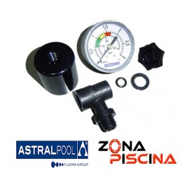 Repuesto kit manómetro con salida posterior 1/8 AstralPool 4404020101.