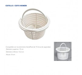 Recambio / Repuesto cestillo Skimmer ASTRALPOOL de 15/17 litros piscinas