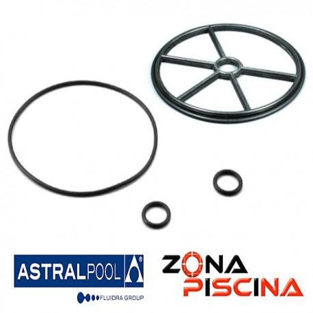 """Repuesto junta estrella 1½"""" para válvula selectora (Tornillos) AstralPool 4404120107."""