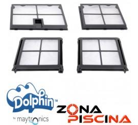 Repuesto Kit filtros primavera limpia fondos automáticos Dolphin Maytronics