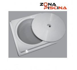 Recambio / Repuesto generico tapa circular y marco redondo skimmer Astralpool piscinas