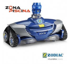 Limpiafondos automatico hidraulico MX9 de Zodiac para piscinas