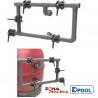 Bateria de cinco valvulas para filtros industriales de piscinas publicas