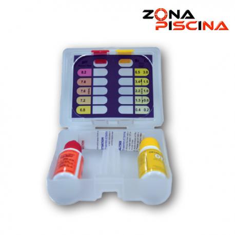 Estuche analizador botes liquido de pH y oto cloro piscinas