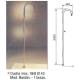 Ducha serie baston DB101 / DB301 con lavapies para piscina kripsol