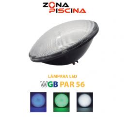 Lampara bombilla proyector / foco wgb con nicho par56 para piscinas
