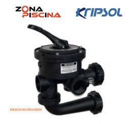 Válvula selectora Variflo lateral 6  vías Kripsol / Hayward para filtros de piscinas