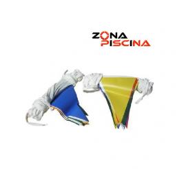 Gallardetes banderolas tela para piscinas competicion, olimpicas, publicas