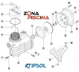 Recambios bomba Kripsol Hayward modelo EPSILON EP