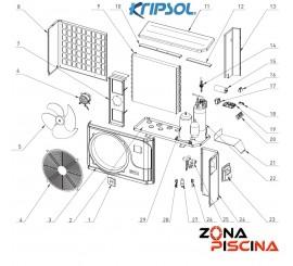 Recambios bomba de calor KOMFORT RC600 KRIPSOL