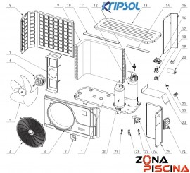 Recambios bomba de calor KOMFORT RC900 KRIPSOL