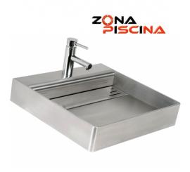 Lavamanos de acero inoxidable para piscinas, baños, vestuarios, calidad marina