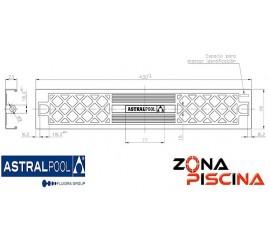 Recambio del peldaño en 304 para escalera de piscina Standard marca AstralPool (4401010105).