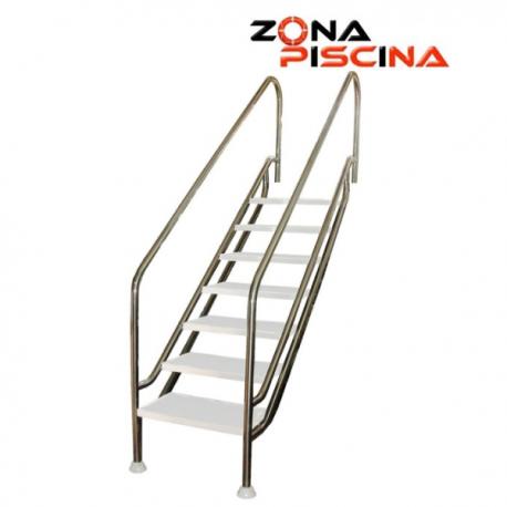 Escalera de facil acceso para piscina AISI 316