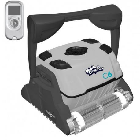 Robot limpiafondos eléctrico piscinas Dolphin Maytronics C6