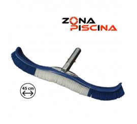 Cepillo piscinas curvo largo clip flexible reforzado