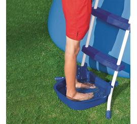 Lavapies para piscinas portatiles, elevadas, portables, hinchables