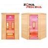 Sauna sistema infrarrojos, modelo Purewave, jardín, piscinas, gimnasio
