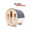Sauna para exterior modelo Bella, para jardín, piscina, incluye bancos