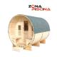 Sauna para exterior modelo Luna, p/ jardín, piscina, abeto canadiense