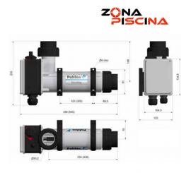 Calentadores eléctricos Pahlen Aqua Compact para piscinas