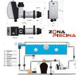 Calentadores eléctricos Pahlen AQUA HL TITANIO para piscinas